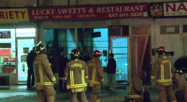 North York, fire, restaurant,