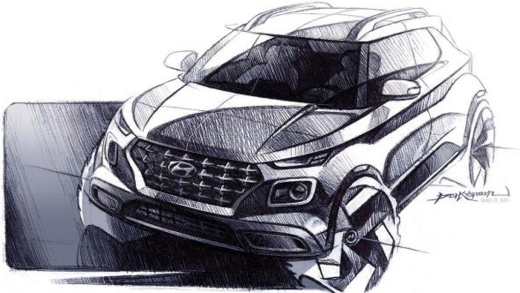 2020 Hyundai Venue design sketch