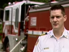 North Shore District Fire Chief Victor Penman says the fire risk on the North Shore Mountains is high. August 4th, 2009.