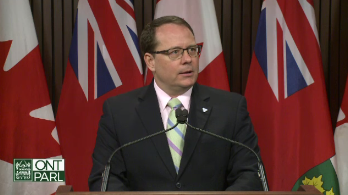 Mike Schreiner introducing a private member's bill to reduce cash-for-access fundraising.