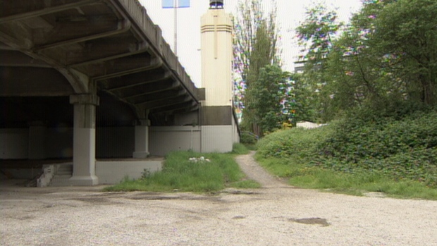 A plot of land near the Burrard Street Bridge set to be developed by the Squamish Nation is seen in this file photo.