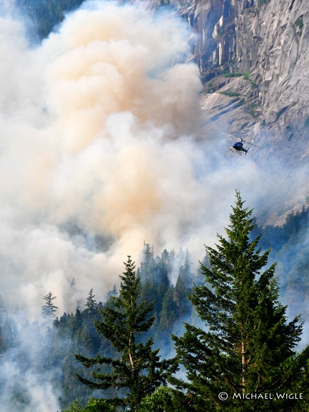 Fire crews battle a blaze in Bella Coola, B.C. (Michael Wigle)