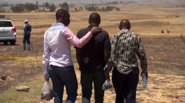 Paul Njoroge visits the site of the plane crash in Ethiopia.