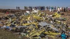 Ethiopian Airlines flight crash site