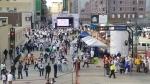 The Whiteout Street Party underway on Smith Street on around 6 p.m. on Wednesday, April 10 (Daniel Timmerman/CTV News).