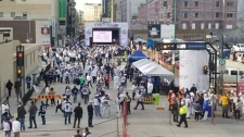 The Whiteout Street Party underway on Smith Street