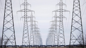 Manitoba Hydro power lines are photographed just outside Winnipeg, Monday, May 1, 2018. Canada's electricity providers say they need to appeal to a younger and more diverse workforce in order to keep the country's lights on. THE CANADIAN PRESS/John Woods