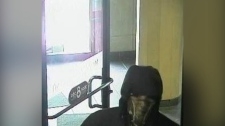 A photo of a suspect wanted in an armed robbery