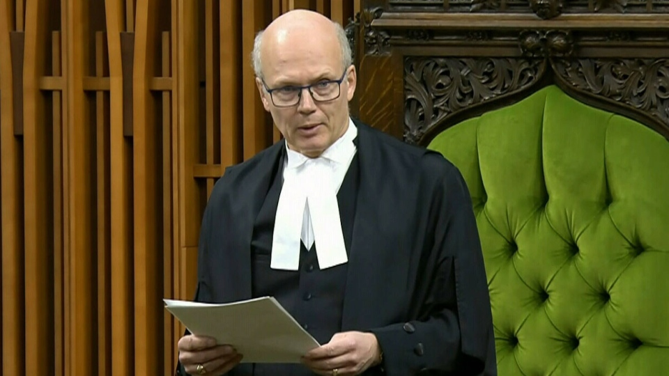 Speaker of the House Geoff Regan in the House of Commons in Ottawa, Thursday, April 11, 2019.