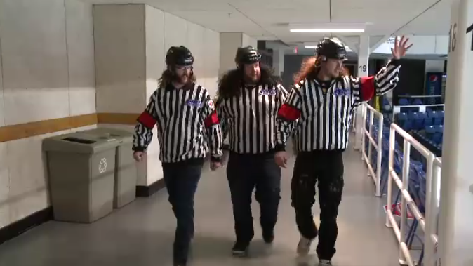 The Eagles organization took notice to the referee-dressed superfans, providing them with free tickets for the rest of the series.