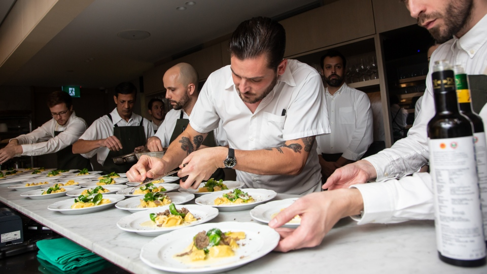 "Dishes are prepared at Toronto's Giulietta restaurant, named the ""Best New Restaurant"" in Canada for Canada's 100 Best magazine. (Giulietta)"