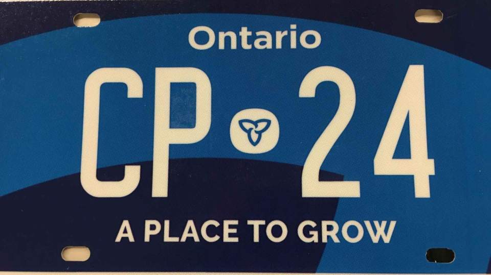 A mock up of a new Ontario licence plate, announced as part of the Progressive Conservative's 2019 budget on April 11, 2019.