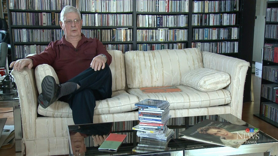 An Ottawa man is donating his 12,000 vinyl records to raise money for the city's public libraries. He said it's taken him 65 years to amass his collection.