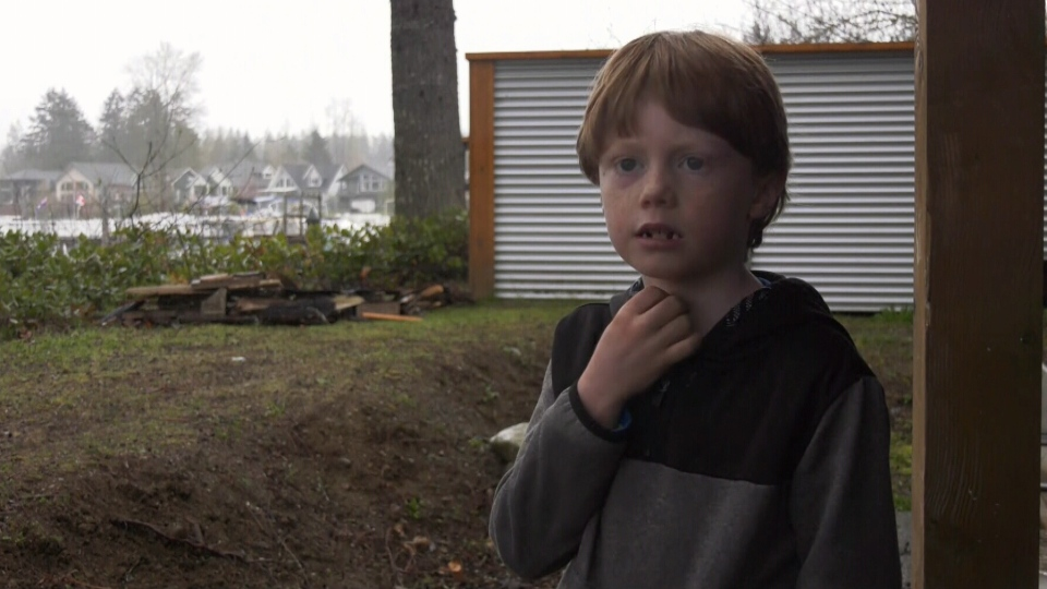 Zach Bromley, 7, suffered serious injuries after he was attacked by a cougar near his Lake Cowichan home on March 29, 2019. (CTV Vancouver Island)