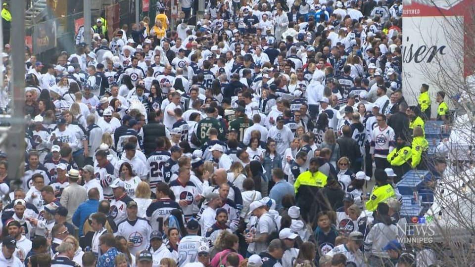 File image of a whiteout crowd in 2018.