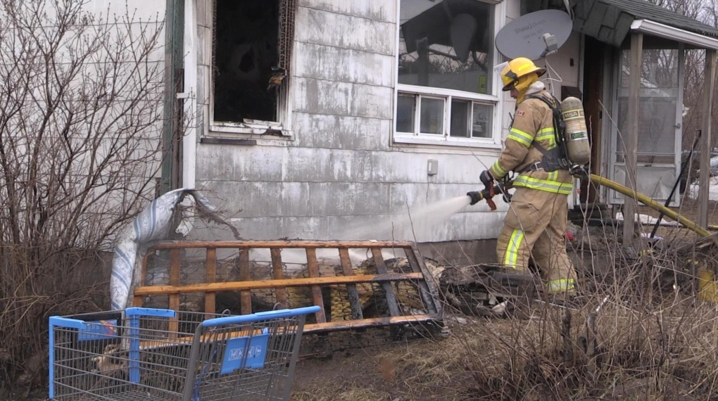 At least one person displaced by North Bay house fire