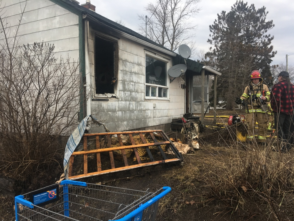Homeowner says the fire started in spare bedroom (Brittany Bortolon/CTV Northern Ontario)
