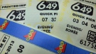 File photo of Lotto 6/49 tickets. (THE CANADIAN PRESS/Richard Plume)