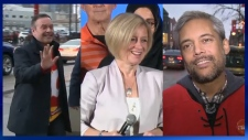 Kenney, Notley and Khan - Calgary Flames