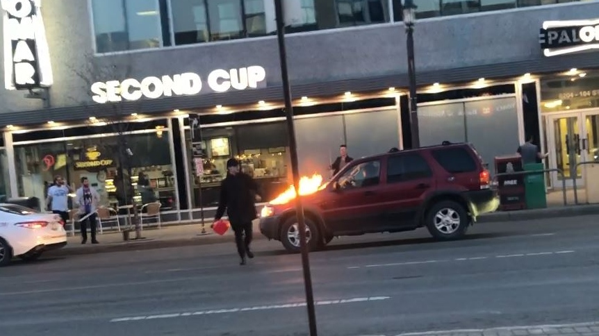 Whyte Ave  vehicle arsonist pleads guilty | CTV News
