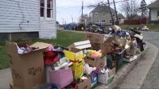 curbside garbage