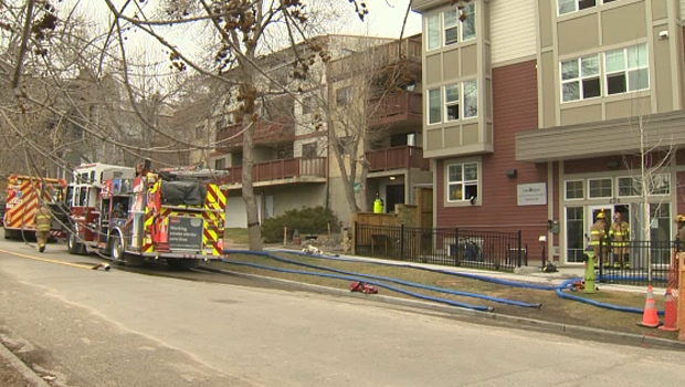calgary, bridgeland, fire, apartment building, cfd