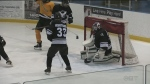 Visually impaired hockey players hit the ice