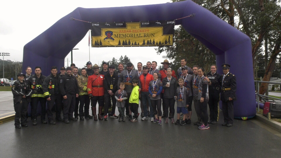 RCMP, first responders and Const. Sarah Beckett's family participated in the Sarah Beckett Memorial Run on Saturday, April 13, 2019.