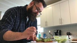 Josh Miller is one of 12 Canadian cooks trying to prove their culinary might on this season of Master Chef Canada.