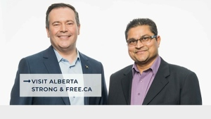 Undated image of Premier-designate Jason Kenney and Calgary-East MLA Peter Singh