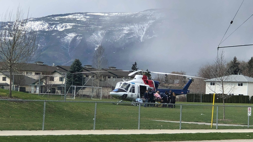 An air ambulance transports one patient to hospital. Source: Chelsea Durcharme
