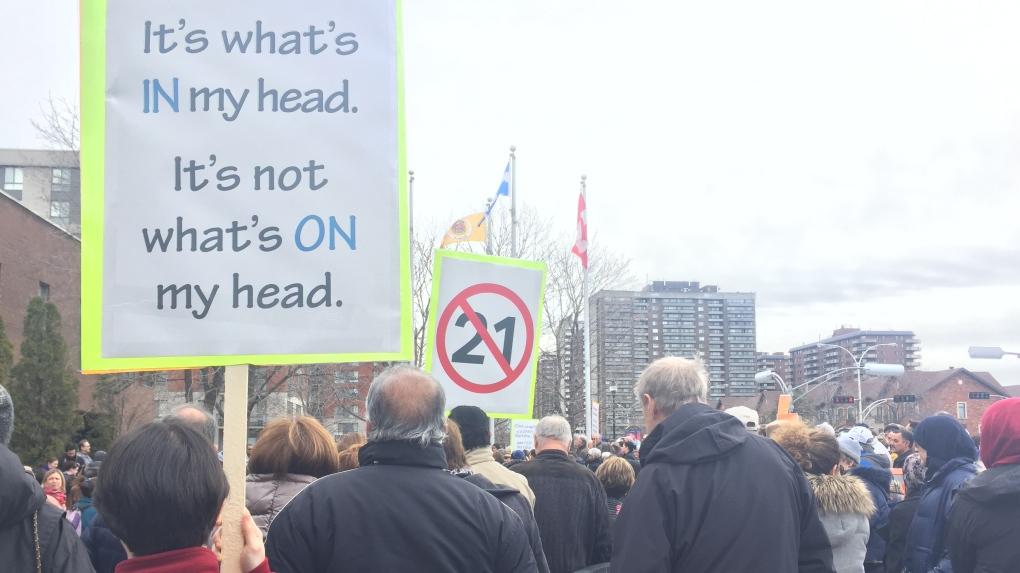 Bill 21 protest