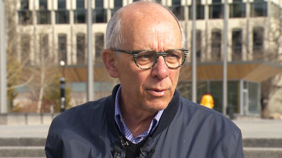 Alberta Party Leader Stephen Mandel speaks to reporters, on Sunday, Apr. 14, 2019.