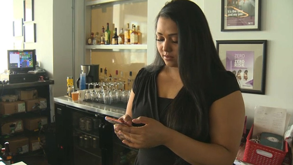 Khushboo Ghosh, co-owner of JP's Indian Bistro in Evanston, says six men came into her restaurant on Saturday, racked up a bill for over $200 and ran out without paying.