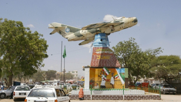 A monument in Hargeisa, Somalia