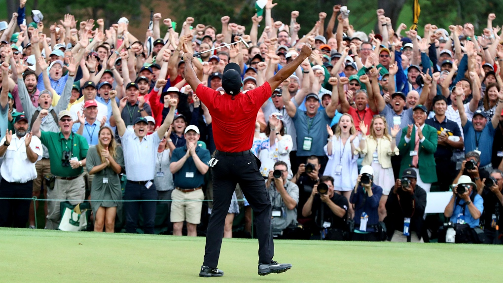 Twitter buzz: The world reacts to Woods' fifth Masters win