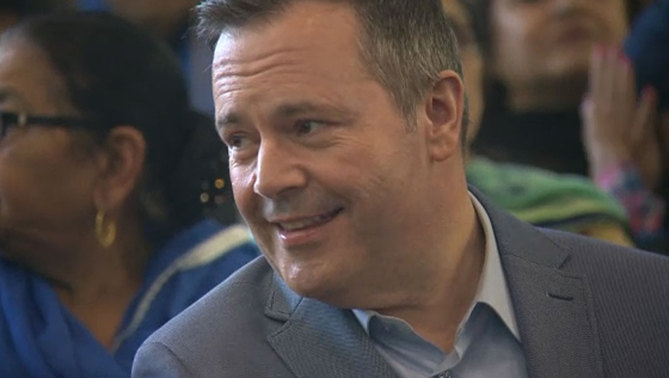 UCP leader Jason Kenney was in Edmonton on Sunday but ducked out of event without answering any questions from the media.