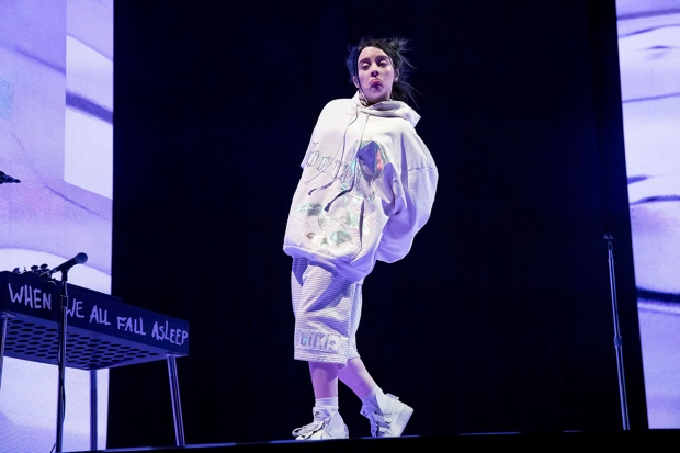 Billie Eilish performs at the Coachella Music & Arts Festival at the Empire Polo Club on Saturday, April 13, 2019, in Indio, Calif. (Photo by Amy Harris/Invision/AP)