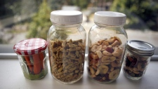 Food stored in reusable containers