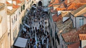 In this Sept. 7, 2018 photo, tourists walk through Dubrovnik, Croatia. (AP Photo/Darko Bandic)