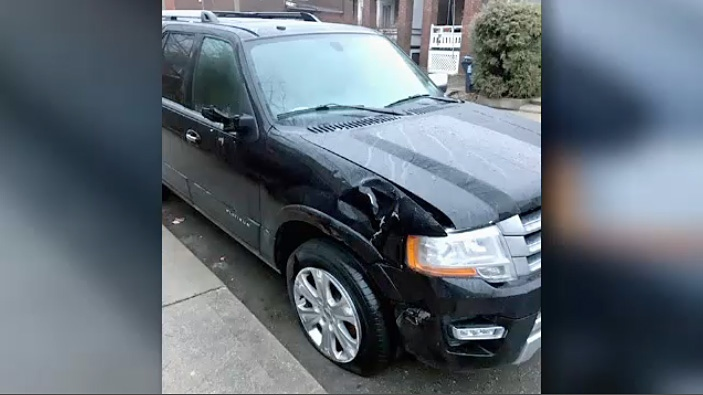 Police have located a vehicle wanted in connection with a hit-and-run at College Street and Spadina Avenue.