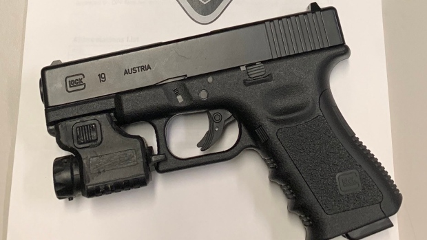 A firearm seized after road rage on Hwy. 401