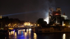 Notre Dame cathedral, fire