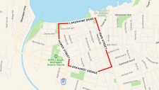 penticton shooting lockdown map