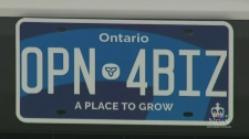 Ontario licence plate collection