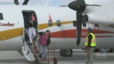 Kashechewan evacuees fly to safety