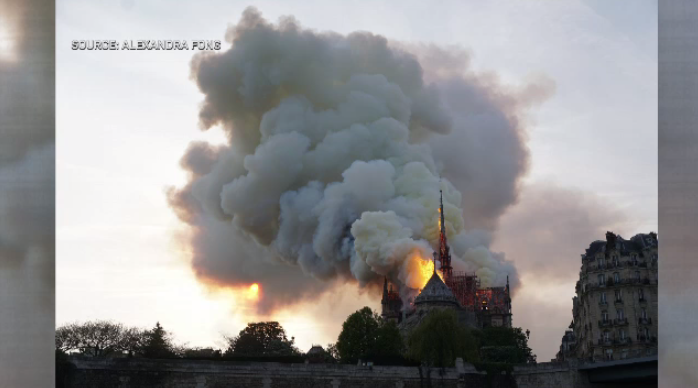 Waterloo woman Alexandra Fong toured Notre Dame Cathedral in Paris minutes before the fire started.