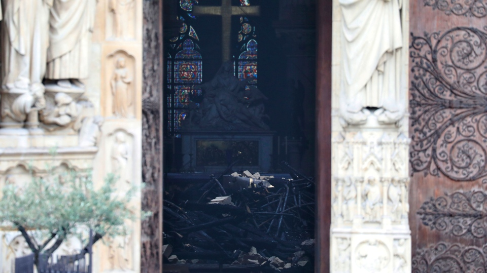 A look inside Notre Dame cathedral after fire