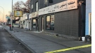 Emergency crews were called to the Middle Eastern restaurant and hookah bar just after 11 p.m. Monday where they found the two victims. (Source: Alex Brown/CTV News)