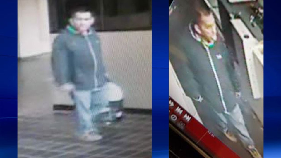 Investigators are looking for this man who allegedly broke into the Lethbridge courthouse over the weekend. (Supplied)